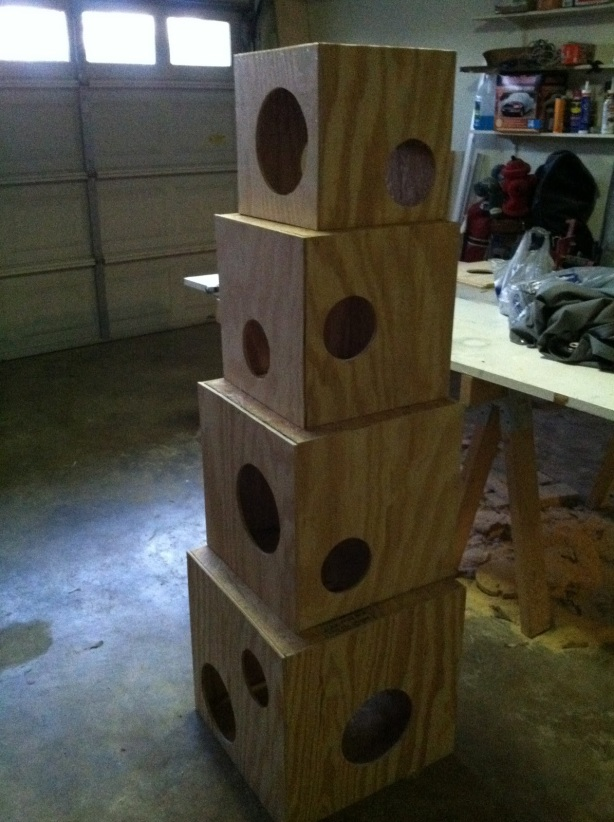 Diy how to build a cat condo wooden pdf projects wood for How to make a cat tower