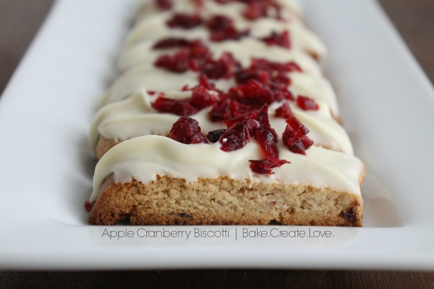 Apple Cranberry Biscotti - Bake. Create. Love. 2