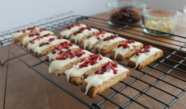 Apple Cranberry Biscotti - Bake. Create. Love