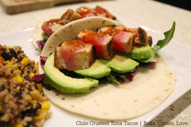 Chile Crusted Tuna Tacos - Bake. Create. Love. 2