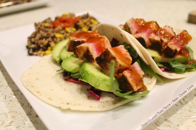 Chile Crusted Tuna Tacos - Bake. Create. Love. 3