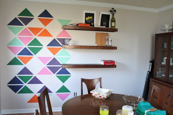 Bake. Create. Love | Triangle Accent Wall